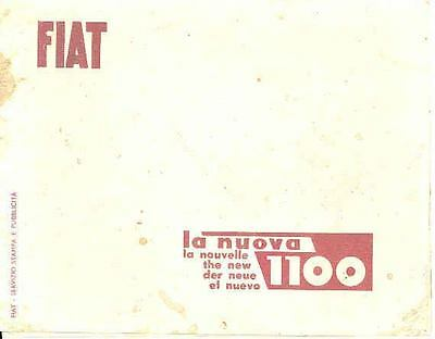 1953 1954 ? Fiat 1100 Press Kit wc6298-VMTRMZ