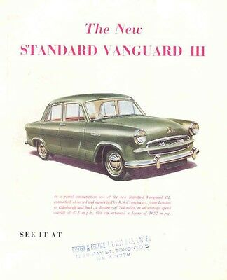 1956 Standard Vanguard III Sales Brochure wc985-HXXWW8