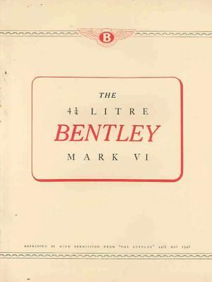 1946 Bentley Mark VI Brochure mx152-DNE5FK