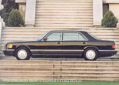 1991 Mercedes Benz 420SEL 560SEL Factory Postcard mx198-RM42UK