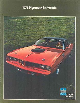 1971 Plymouth Barracuda Brochure mx1054-UDFNHS