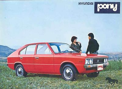 1981 Hyundai Pony Brochure French mx679-D8EFIT
