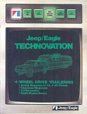 1985 Jeep Eagle Trailering Brochure mx1363-UC791R