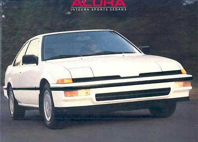 1988 Acura Integra Sports Sedan Brochure mx1592-UV9BL3