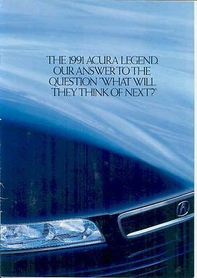 1991 Acura Legend Brochure mx1608-EGYF1L