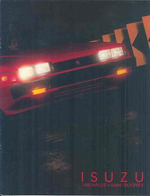 1985 Isuzu Impulse I-Mark Trooper II Brochure mx1916-IIZ3MD