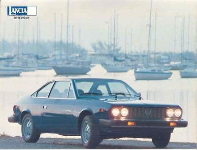 1975 1976 Lancia Beta Coupe Brochure mx1978-IJ7E5O