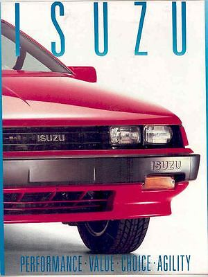 1988 Isuzu Impulse I-Mark Trooper II Pickup Brochure mx2416-5CWHGD