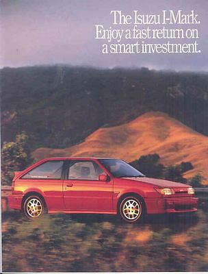 1988 Isuzu I-Mark Lotus Brochure Poster mx2427-LFDPLM