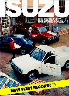 1987 Isuzu Pickup Truck I-Mark Fleet Cars Brochure mx2442-CJCLRX