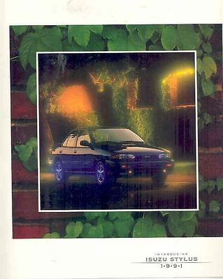 1991 Isuzu Styluse Brochure mx2471-IT84IW