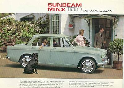 1964 Sunbeam Minx 1600 Deluxe Sedan Brochure mx2848-VY5Q8B