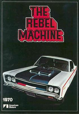 1970 AMC Rebel Machine Brochure mx2947-A3P1DR