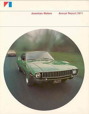 1971 AMC Annual Report Brochure 1972 Javelin AMX Jeep mx3072-GAPNAL