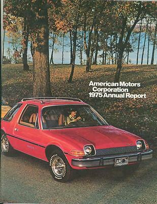 1975 AMC Annual Report Brochure 1976 Pacer Jeep mx3075-YM7LD8