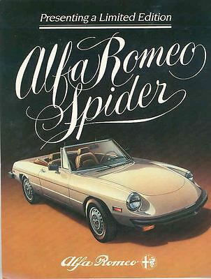1982 Alfa Romeo Spider Limited Edition Brochure mx3079-1T3WSA