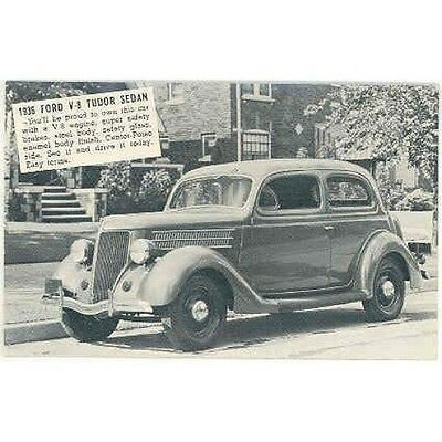 1936 Ford Tudor Sedan Factory Postcard mx3203-62FH4N