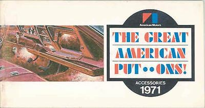 1971 AMC Accessories Brochure mx3254-TCZIUK