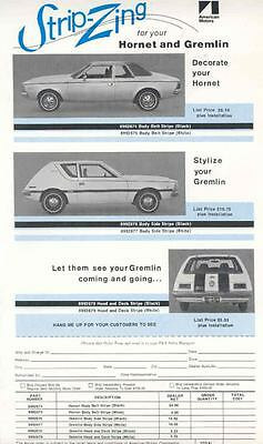 1972 AMC Gremlin Hornet Racing Stripe Brochure mx3397-XYKP89