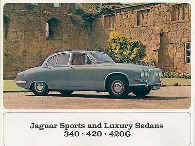 1967 Jaguar 340 420 420G Saloon Brochure mx3723-1ZO5Y6