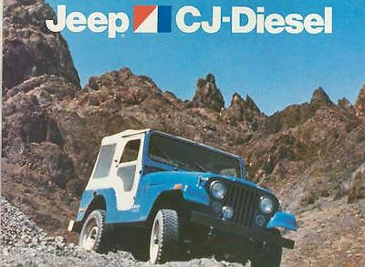 1978 AMC Jeep CJ5 CJ6 CJ7 Perkins Diesel Brochure mx3726-LV34UZ