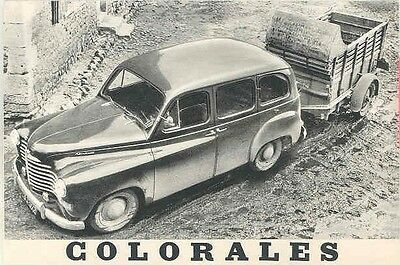 1952 Renault Station Wagon Pickup Brochure Dutch wa871-9W369W