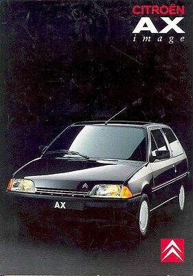 1982 ? Citroen AX Image Sales Brochure Swedish wa4809-SODUDI