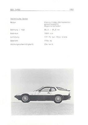 1981 Porsche 924 Turbo Sales Brochure German wa8284-1AIGD9
