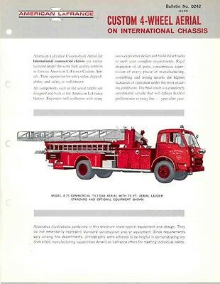 1964 International American LaFrance Fire Truck Brochur wa9566-86ZYSJ