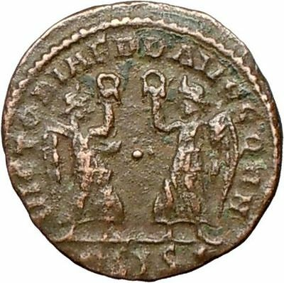 Constantius II Constantine the Great son Ancient Roman Coin Two Victories i27874