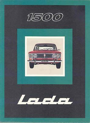 1976 Lada Fiat 1500 Brochure Poster French Switzerland .  ws7362-FLY5N7