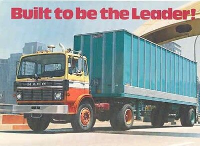 1980 Mack Mid Liner MS300 Truck Postcard pc542-5AGTC6