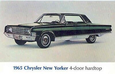 1965 Chrysler New Yorker Postcard pc545-8BUHOU