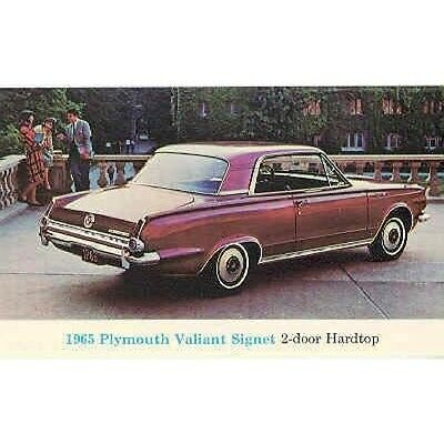 1965 Plymouth Valiant Signet Postcard pc587-L4H6CW
