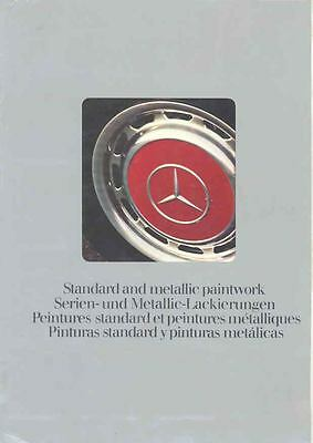 1978 Mercedes Benz Standard & Metallic Paint Colors Brochure mx5037-5WTBCM