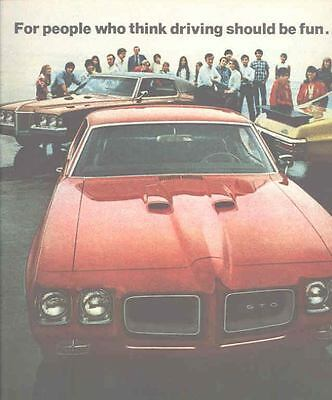 1970 Pontiac GTO Hi Performance Brochure Grand Prix  mx5071-DNPT43