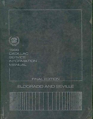 1986 Cadillac Eldorado & Seville ORIGINAL Shop Manual s139-NQO2KX