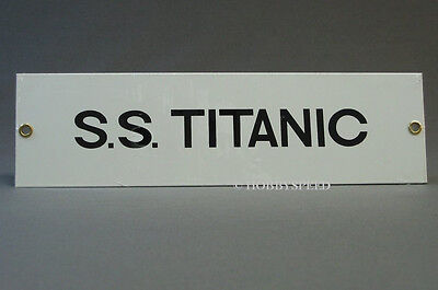 ANDE ROONEY S.S. TITANIC PORCELAIN SIGN RECTANGLE ship wreck travel rms 11502021