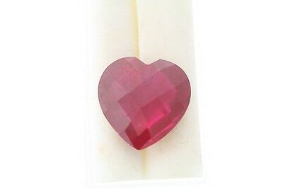 21.93ct Rose Cut Heart Loose Lab Ruby 18.0 x 7.8mm