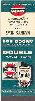 1940's 1950's Matchbook Cover Amoco Permalube Oil mb1071-BYCXVS