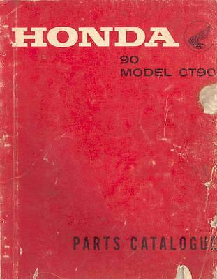 1967 Honda 90 Model CT90 Illustrated Parts Book mo165-A94F3N