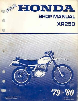 1979 1980 Honda XR250 Original Shop Repair Manual mo217-3RFUSQ