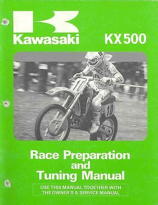 1987 Kawasaki KX500 Motorcycle Race Preparation & Tuning Manual mo486-IR72KC