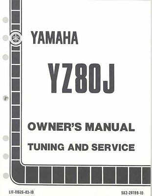 1982 Yamaha YZ80J Motorcycle Owner's and Service Manual mo798-9FIVL4