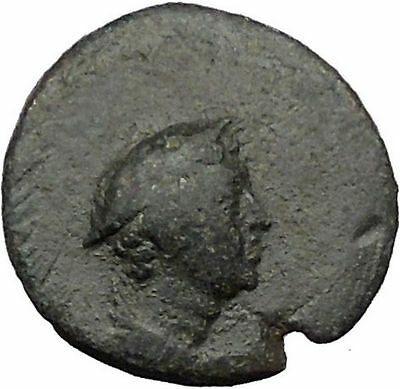AIGAI in Aiolis 2nd Cent BC Hermes & Goat Quality Ancient Greek Coin  i31770