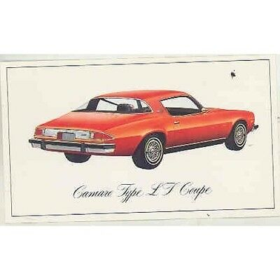 1976 Chevrolet Camaro LT Coupe Factory Postcard mx5148-T6ZJFH
