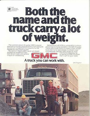 brochures pamphlets trucks transportation collectibles page 49 rh picclick com 1983 GMC Brigadier with Dually Bed 1970 GMC 9500