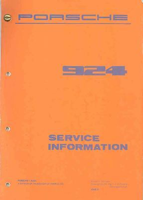 1977 Porsche 924 Service Manager's Manual x5615-RGN568