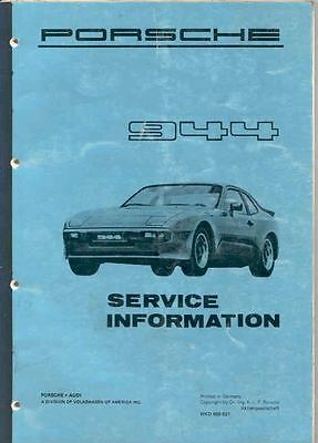 1982 Porsche 944 Service Manager's Manual x5731-574APT