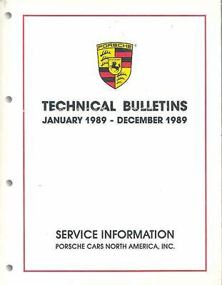 January 1989 December 1989 Porsche Technical Service Bulletin Book x6283-9C16L7